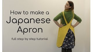 How to make a Japanese or Prairie Style cross over Apron