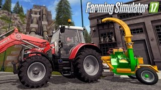 farming simulator 17 chipping wood by hand heizomat hm4 300 mf5600 with commentary