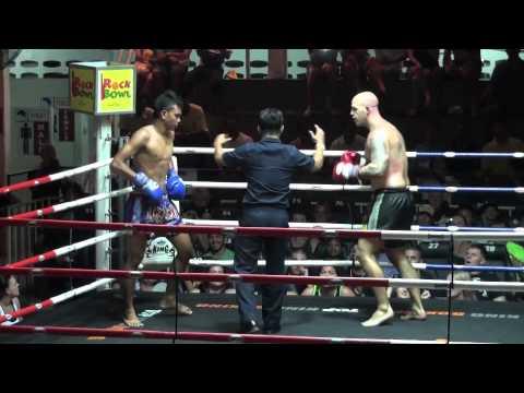 James (Tiger Muay Thai) Scores 2nd Round KO @ Patong Boxing Stadium