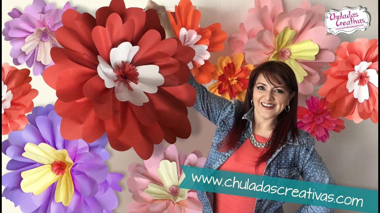 Flores gigantes de papel chuladas creativas youtube - Posters gigantes para pared ...