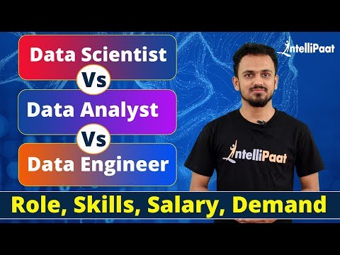 Data Scientist Vs Data Analyst Vs Data Engineer - Role, Skills, Salary, Demand | Intellipaat