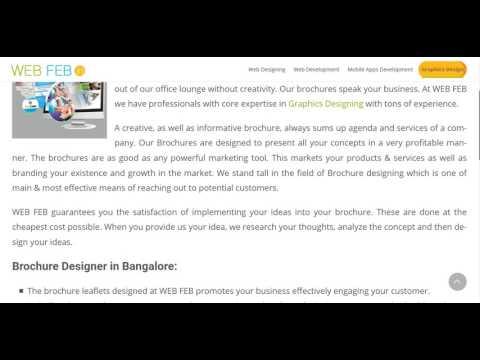 Brochure designer in bangalore | creative brochure design in bangalore.