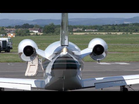 Cessna Citation CJ2 M-WMWM - Start Up & Take off - Gloucestershire Airport
