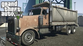 GTA V Next Gen PS4 - JoBuilt Rubble Dump Truck Test Drive