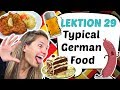 GERMAN LESSON 29: Must EAT & DRINK in GERMANY: Typical German Food and Drinks! 🍻🍰