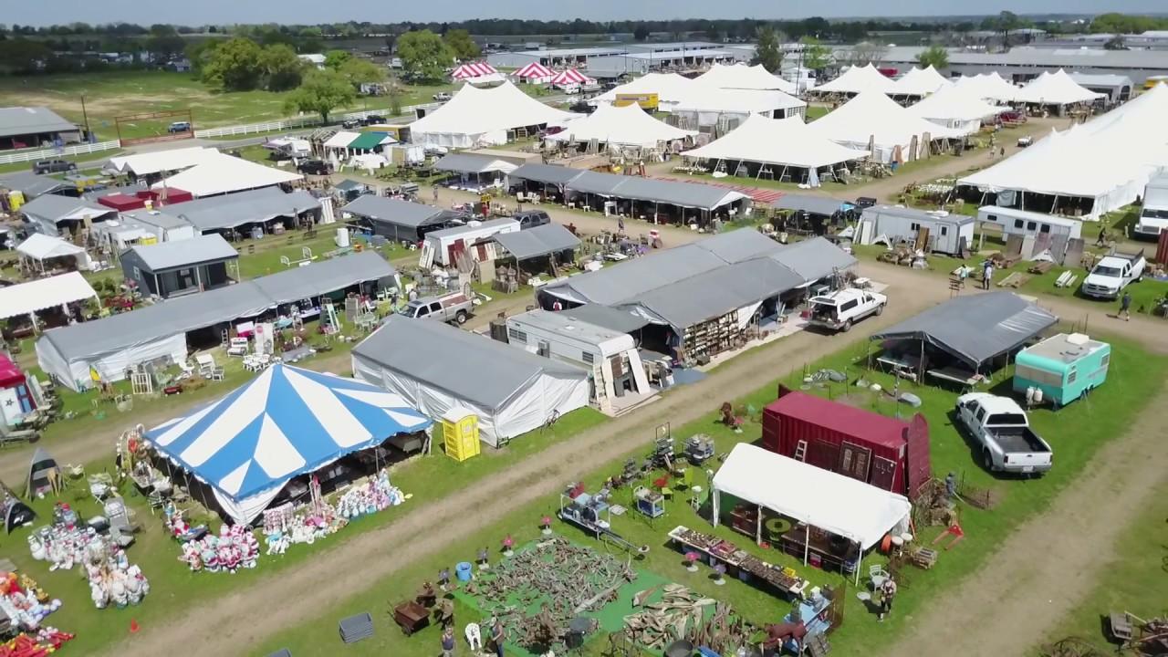 Waron Tx Antique Festival Aerial View Round Top Fair