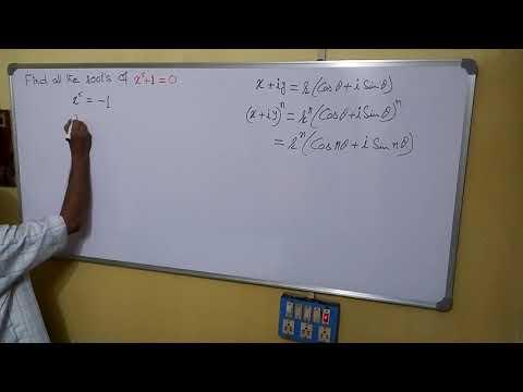 Solve : x^5 + 1 = 0; De Moivre's Theorem