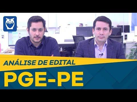 Análise de Edital PGE-PE: Servidores