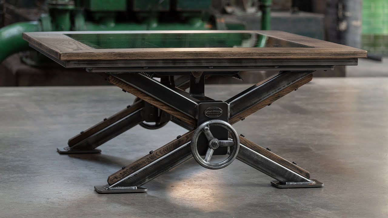 The Steampunk Coffee Table Steel Vintage The Industrial Furniture Company Youtube