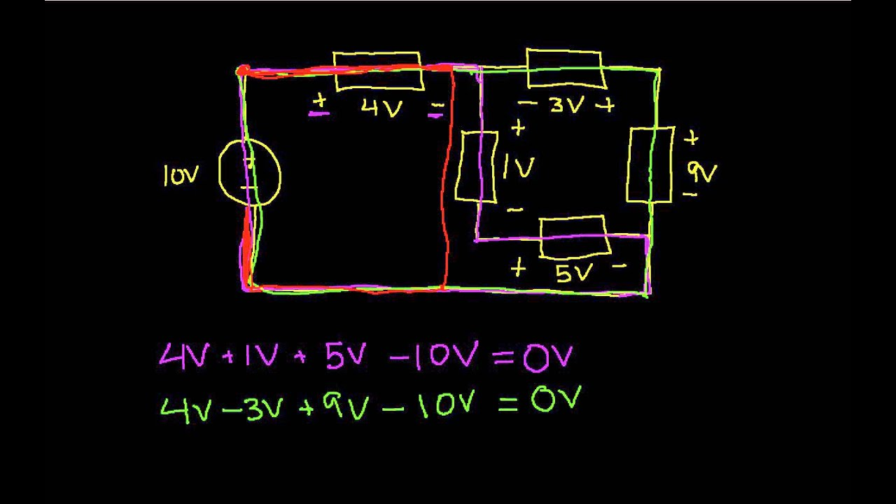 Kirchhoffs Voltage Law In Circuit Analysis Youtube Drop A Parallel