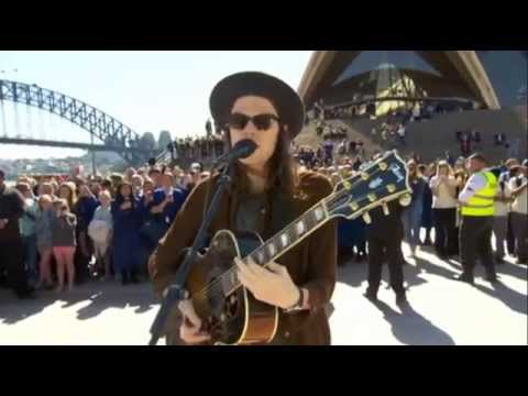 James Bay (Busking) - Let It Go (Acoustic) @ Sydney Opera House (Forecourt) 14/08/2015