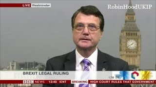Gerard Batten destroys all the legal arguments for Brexit legal challenge