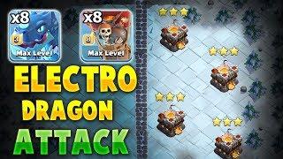 8 Electro-Drag + 8 Balloon + Stone Slammer : New TH11 Electro Dragon ATTACK STRATEGY
