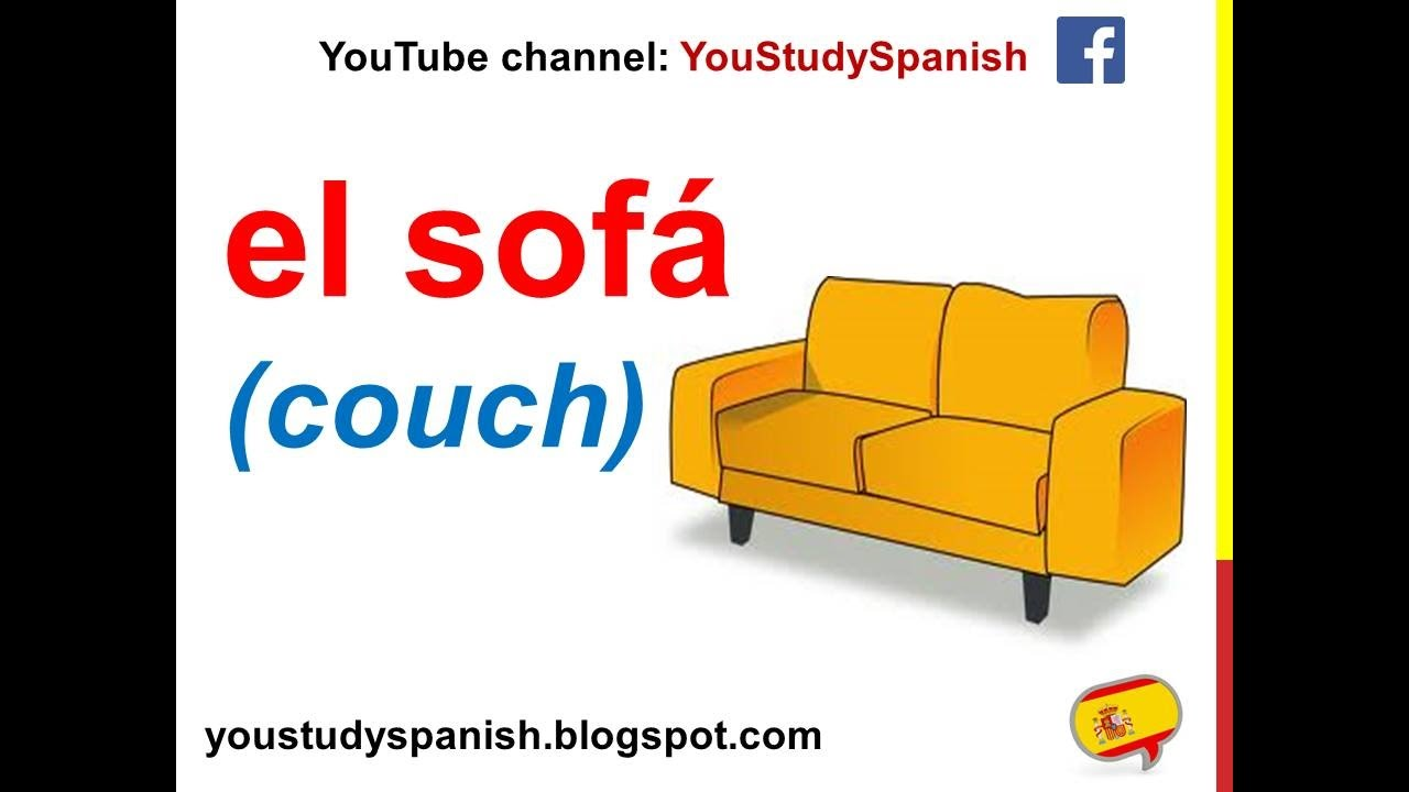 Spanish Lesson 65 - Furniture in the LIVING ROOM and DINING ROOM in ...