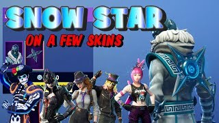 Fortnite SNOW STAR Back Bling on a few skins