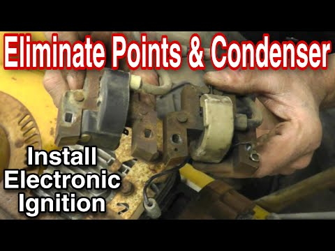 How To Replace Points and Condenser with Electronic Ignition Coil with Taryl