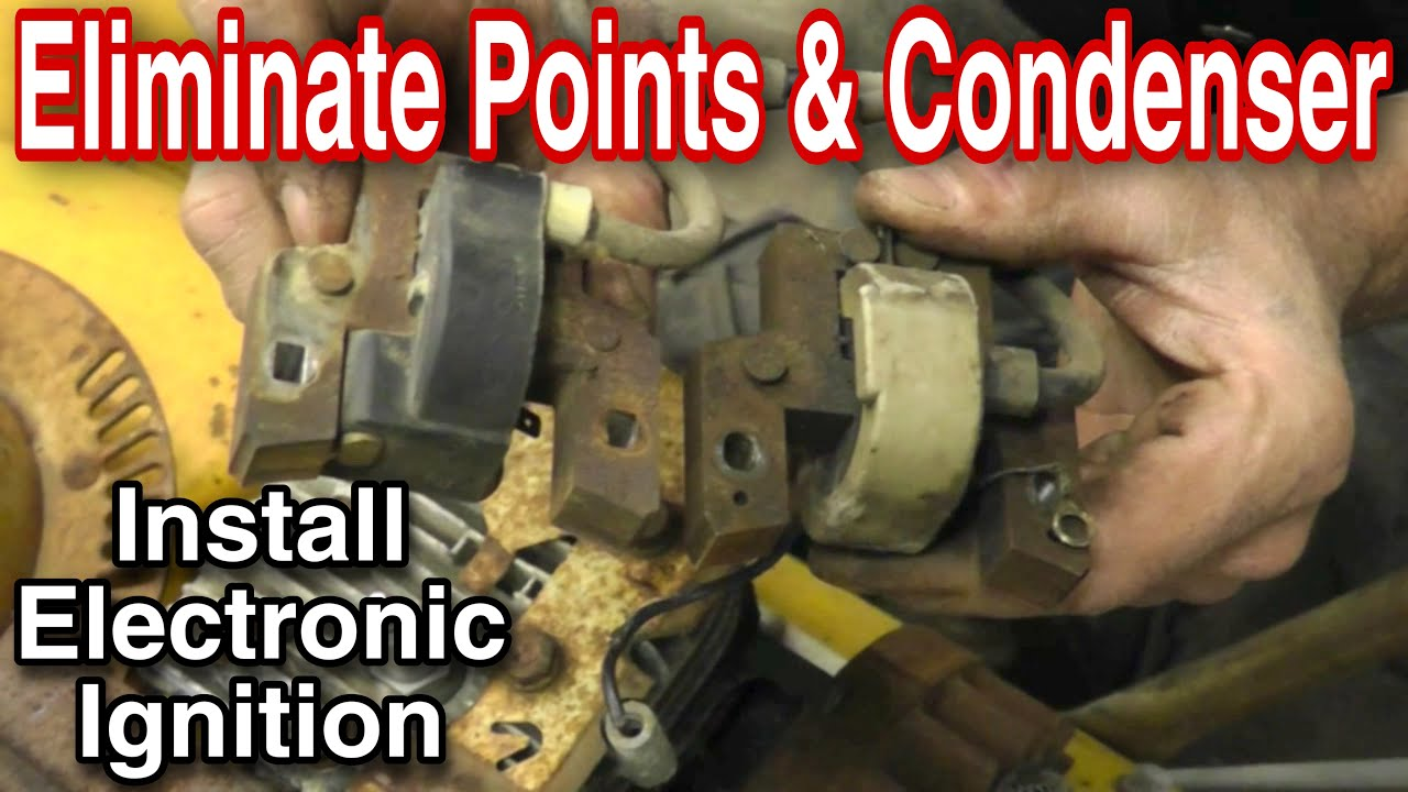 medium resolution of how to replace points and condenser with electronic ignition coil with taryl