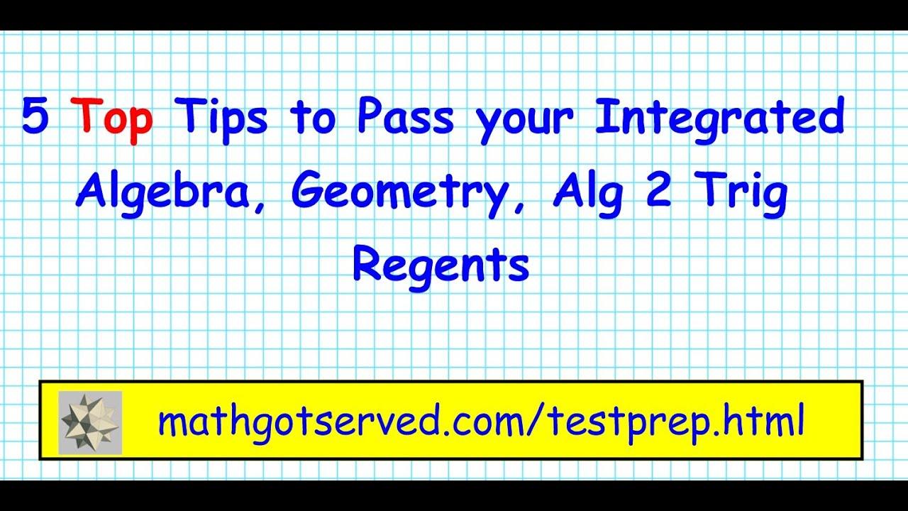 top 5 tips pass the algebra geometry trig trigonometry regents nys rh youtube com Examples Study Guide Study Guide Template