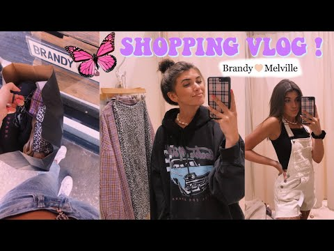 BACK TO SCHOOL CLOTHES SHOPPING VLOG   BRANDY MELVILLE, URBAN OUTFITTERS, PACSUN