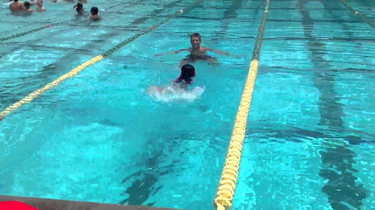 Swimming in 8ft pool for the first time - YouTube