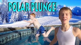 ❄️🏊  ULTIMATE POLAR PLUNGE CHALLENGE!  🏊❄️  - The DAD goes IN!!! - vlog e137