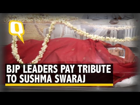 RIP Sushma Swaraj | BJP Leaders Pay Tribute to Sushma Swaraj | The Quint