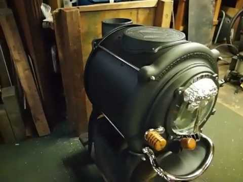 15 Quot Clean Air Elm Wood Stove Youtube
