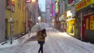 Repeat youtube video 2014年2月8日<東京大雪の記録映像>(Snow in Tokyo Akihabara)