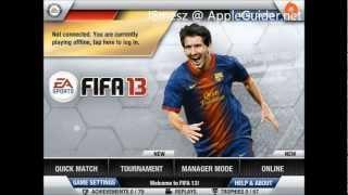FIFA 13 Gameplay - iPhone,iPad,iPod Touch - AppleGuider