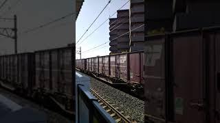 JR総持寺駅EF210貨物列車通過