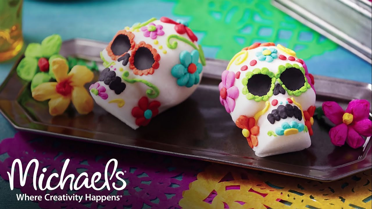 Wilton Sugar Skulls | Halloween Costumes & Party | Michaels - YouTube