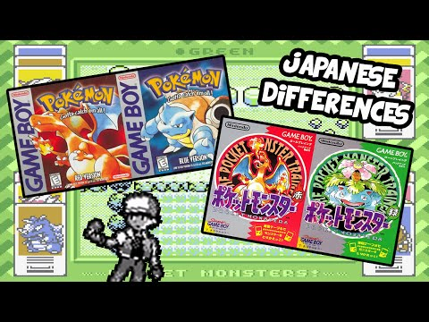 Pokemon Red and Blue Japanese Differences