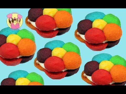 3D RAINBOW FLOWER COOKIES Tutorial by Charli's crafty kitchen - how to baking