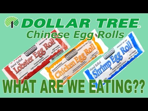 Dollar Tree ONE DOLLAR Egg Rolls - WHAT ARE WE EATING?? - The Wolfe Pit