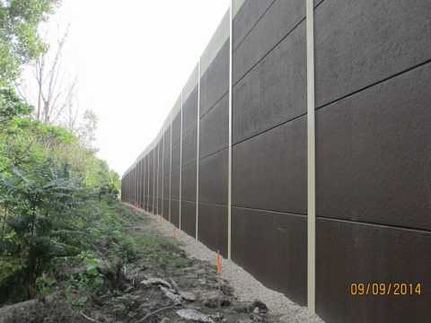 Precast Concrete Sound Wall for Madison WI from Crest