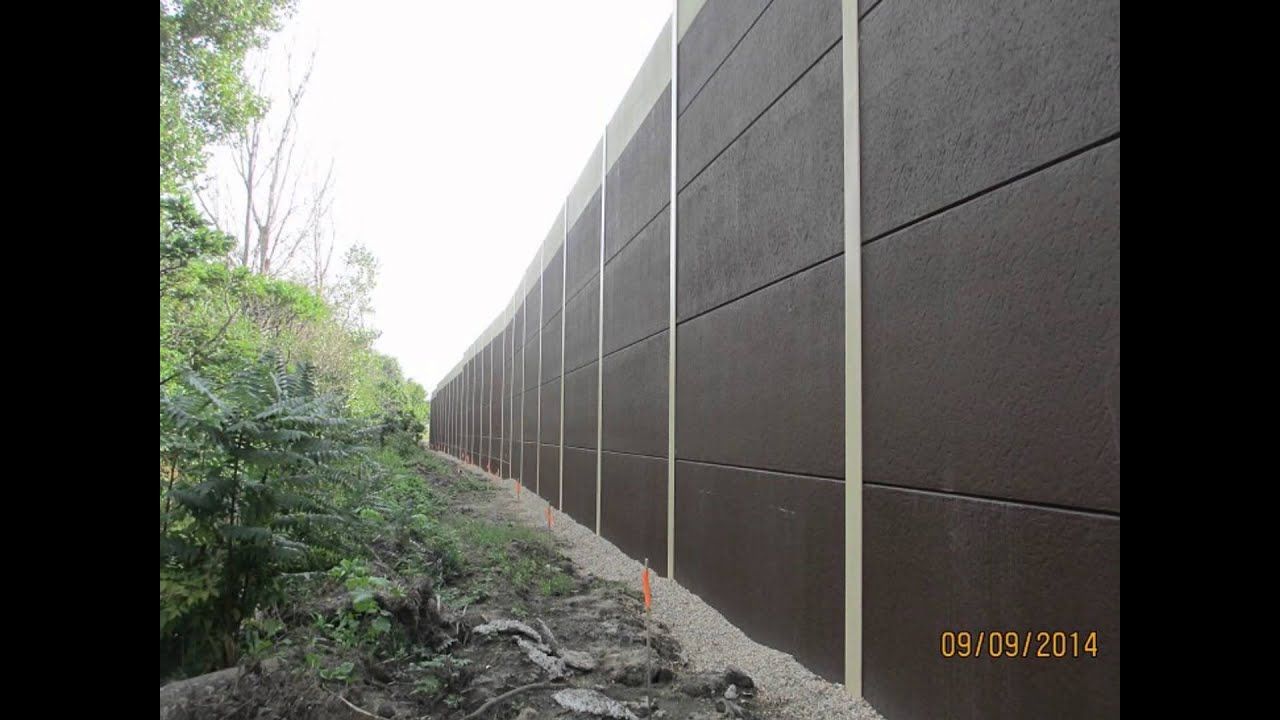 Concrete Sound Walls : Precast concrete sound wall for madison wi from crest