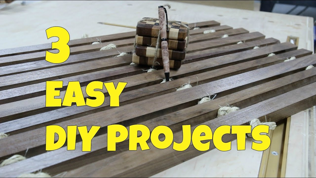 3 Easy Diy Projects You Can Make In One Day Woodworking Youtube