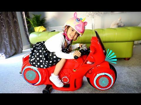 Ride On POWER WHEEL MOTORBIKE Video for kids