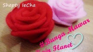 Video ini berisi tentang cara membuat bunga mawar dari kain flanel, langkah-langkahnya adalah: 1. menyiapkan bahan yang dibutuhkan seperti gunti...