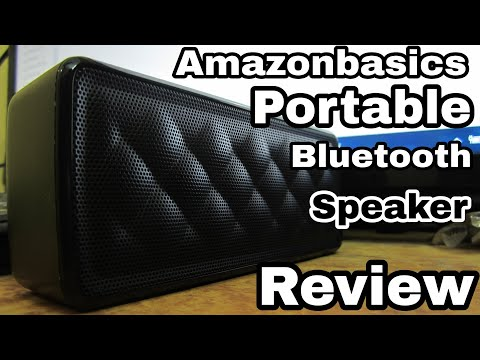 AmazonBasics Portable Bluetooth Speakers Unboxing and Review