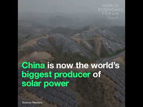 China became the world's biggest solar power producer