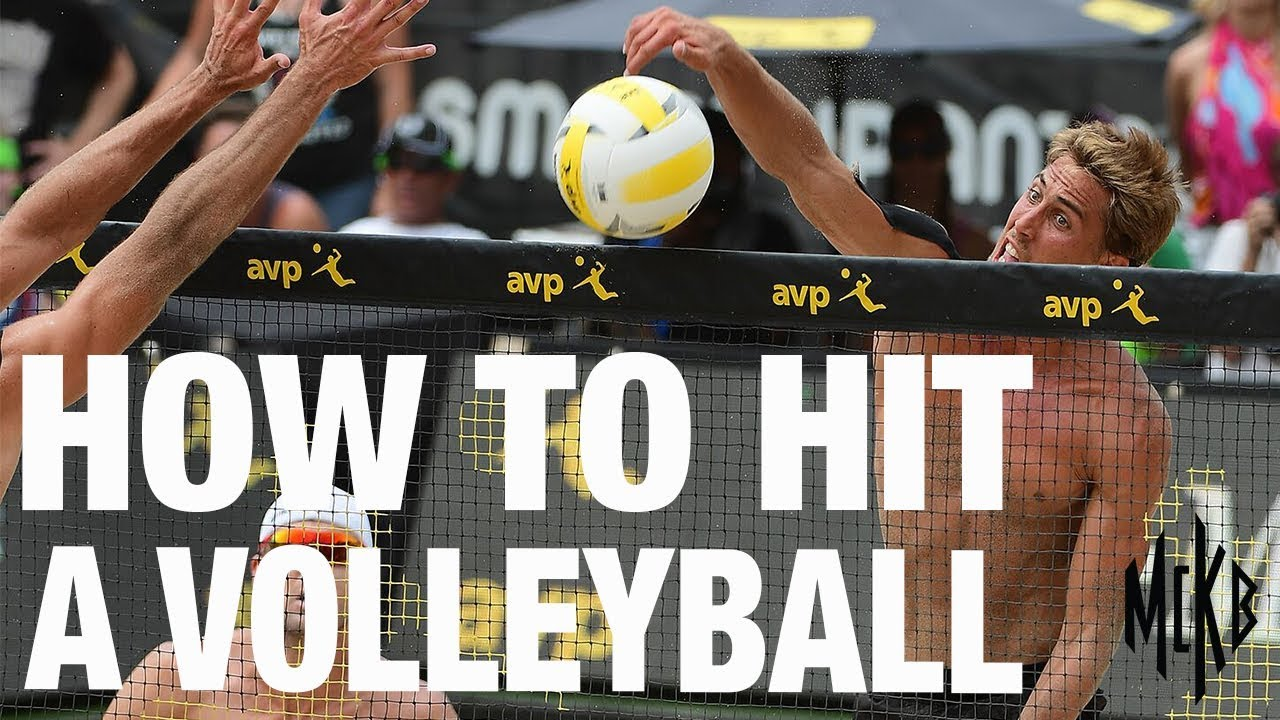 how to hit a volleyball serve