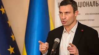 Кличко запел мэр Киева показал миру новый талант