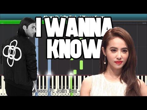 I Wanna Know (Alesso Ft.  Jolin Tsai) Piano Tutorial - Free Music Sheet