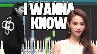 I Wanna Know (Alesso Ft.  Jolin Tsai) Piano Tutorial - Free Music Sheet