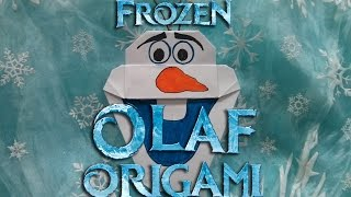 How To Make Frozen Olaf Origami, Easy Instructions (diff 5/10) アナと雪の女王の折り紙オラフの作り方