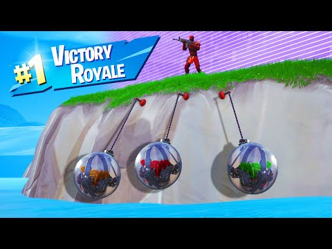 WINNING While ONLY HANGING In FORTNITE! (*NEW* BALL Vehicle)