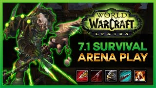 SURVIVAL 2s ARENA COMMENTARY – 7.1 WoW Legion Hunter PvP