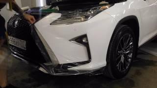 видео: Оклейка антигравийной защитной пленкой SunTek (СанТек)  Lexus RX200t, бронирование авто пленкой