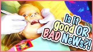 does baby rory get bad news it s her first time at the dentist family vlog